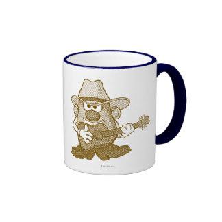 Mr. Potato Head Playing Guitar Ringer Coffee Mug