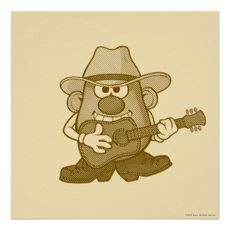 Mr. Potato Head Playing Guitar Poster