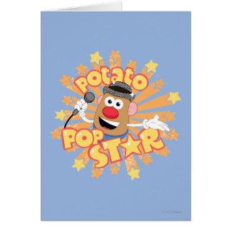 Mr. Potato Head - Pop Star Card