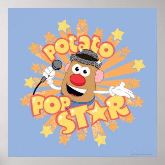 Mr. Potato Head - Pop Star Poster