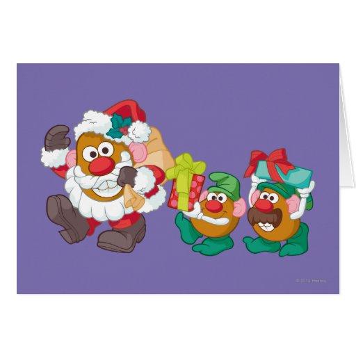 Mr. Potato Head - Santa and Elves Greeting Card