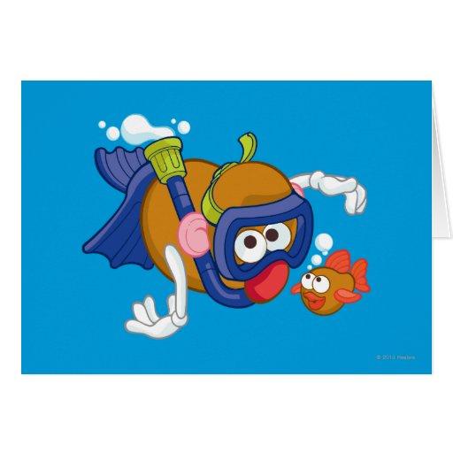 Mr. Potato Head Swimming Card