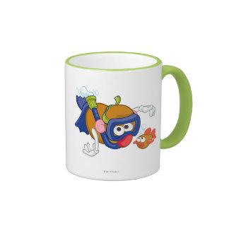 Mr. Potato Head Swimming Ringer Coffee Mug