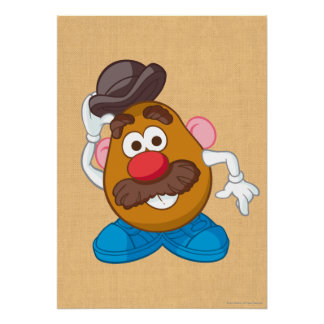 Mr. Potato Head Tipping Hat Poster