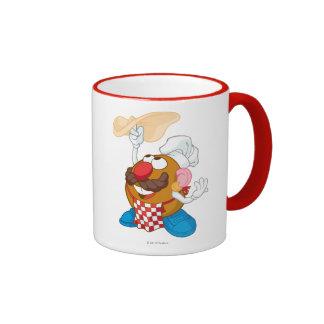 Mr. Potato Head Tossing Pizza Ringer Coffee Mug