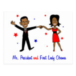 Mr. President and First Lady Obama Postcard