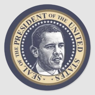 Mr. President Classic Round Sticker