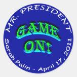 Mr. President, GAME ON! Classic Round Sticker
