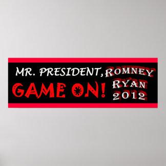 Mr. President - Game On! - Romney Ryan 2012 Poster