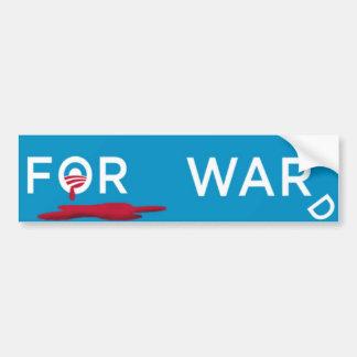 Mr. President, Read Our Lips, NO MORE WAR! Car Bumper Sticker