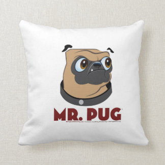 Mr. Pug and Mr. Other Pug Pillow
