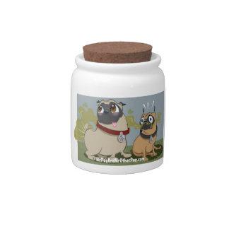 Mr. Pug & Mr. Other Pug Cookie Jar Candy Dish
