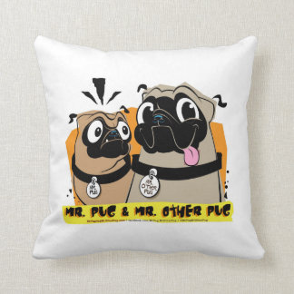 Mr. Pug& Mr. Other Pug MOD Pillow