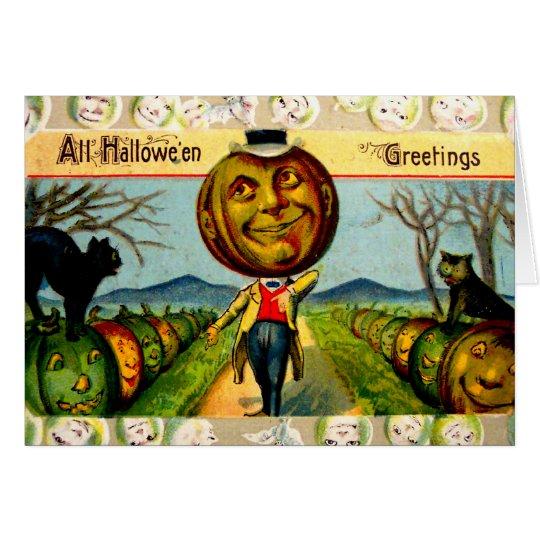 Mr. Pumpkin(Vintage Halloween Card) Card