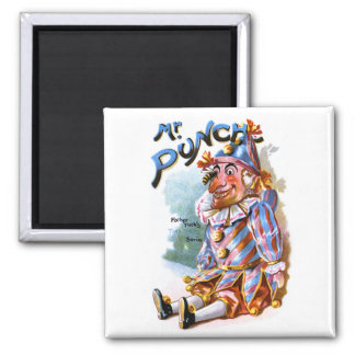 Mr. Punch 2 Inch Square Magnet