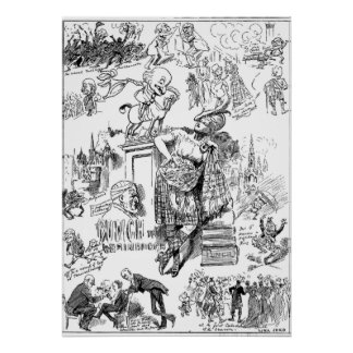 Mr. Punch Goes To Edinburgh Poster Punch Magazine