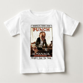 MR PUNCH VINTAGE ALMANACK 1908 PRINT DESIGN BABY T-Shirt
