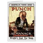 MR PUNCH VINTAGE ALMANACK 1908 PRINT DESIGN CARDS