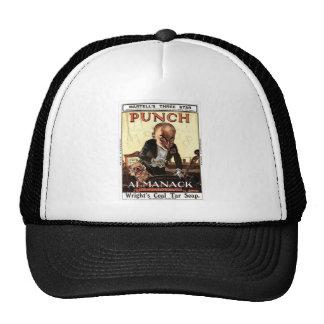 MR PUNCH VINTAGE ALMANACK 1908 PRINT DESIGN TRUCKER HAT