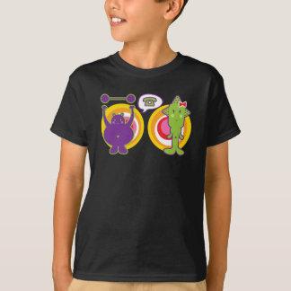 Mr. Purple & Miss Green Cute Cartoon Character T-Shirt