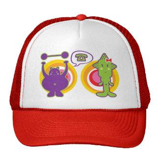 Mr. Purple & Miss Green Cute Cartoon Character Trucker Hat