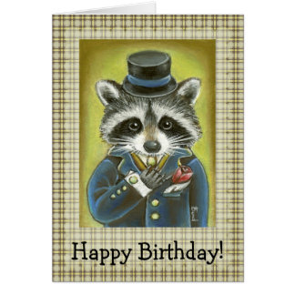 Mr Raccoon Card