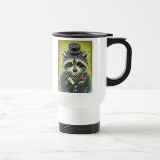 Mr Raccoon 15 Oz Stainless Steel Travel Mug