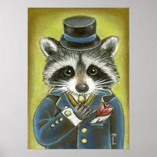 Mr Raccoon Poster