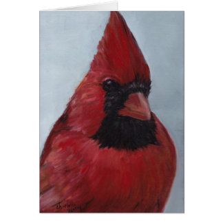 Mr Red Cardinal #2 Bird Art Note Card