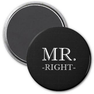 Mr Right 3 Inch Round Magnet