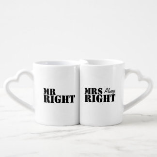 Mr Right and Mrs Always Right Newly Wed Wedding Couples Mug