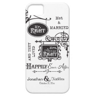 Mr. Right and Mrs. Always Right Wedding Marriage iPhone 5 Cases