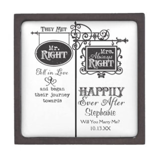 Mr. Right and Mrs. Always Right Wedding Marriage Gift Box