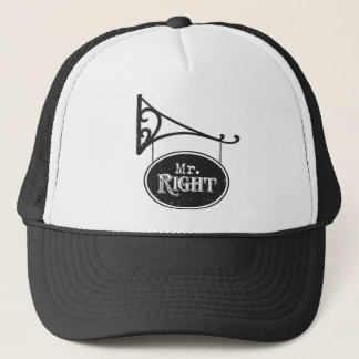 Mr. Right Batchelor Party Wedding Marriage Trucker Hat