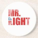 MR. RIGHT BEVERAGE COASTER