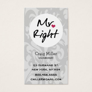 Mr Right Business Card