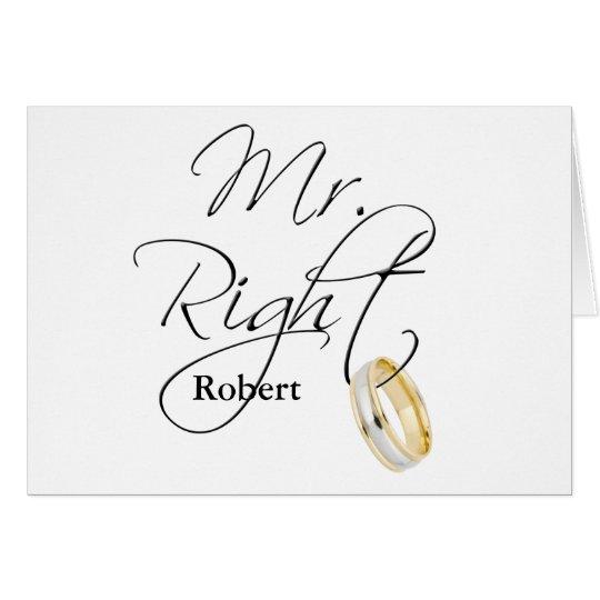 Mr Right Card
