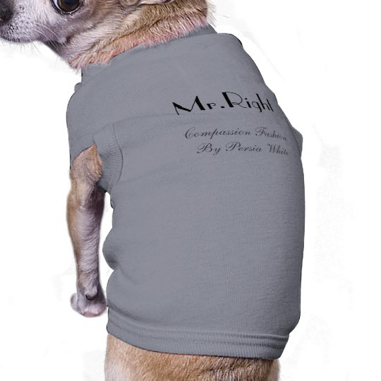 Mr.Right, Compassion Fashion By Persia White T-Shirt