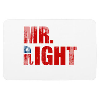 MR RIGHT Faded png Magnet