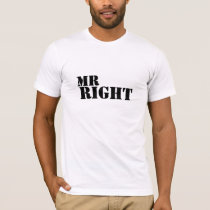 Mr Right Just Married T-Shirt