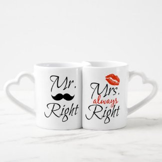Mr. Right & Mrs. always Right Coffee Mug Set