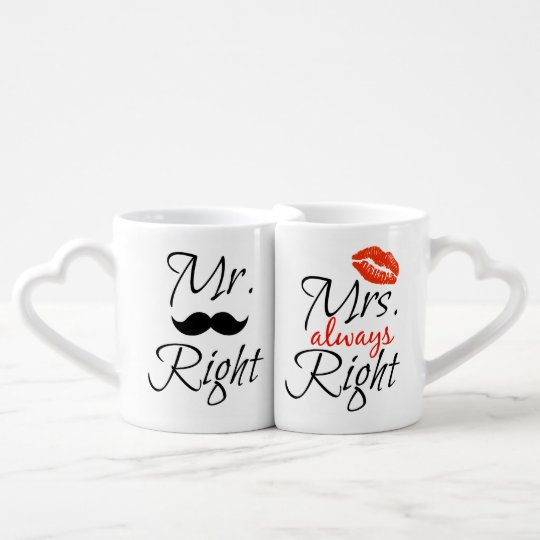 Mr Right Mrs Always Coffee Mug Set
