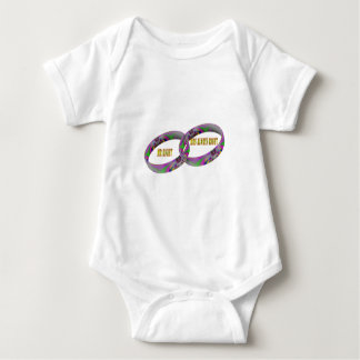 Mr Right & Mrs Always Right Wedding Rings .png Baby Bodysuit
