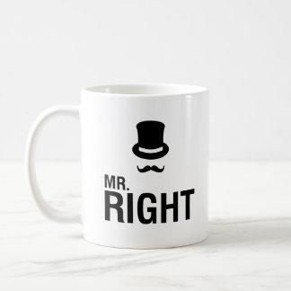 Mr. Right Classic White Coffee Mug