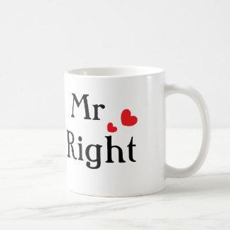 Mr Right Classic White Coffee Mug