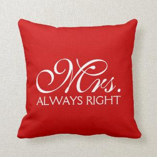 Mr Right Throw Pillows