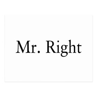 Mr. Right Postcard