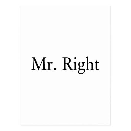 Mr. Right Postcards
