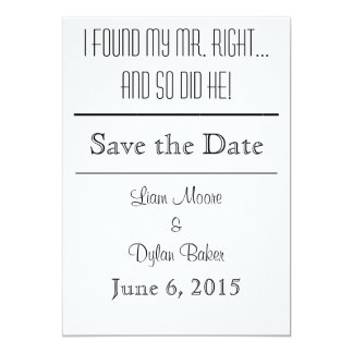 """Mr. Right"" Save the Dates Card"
