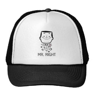 Mr. Right T-shirts and Gifts Trucker Hats